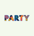 party concept word art vector image vector image