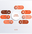process chart template for presentation 7 option vector image vector image
