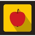 Red apple icon in flat style vector image vector image