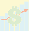 Sales Bar Chart Growth of dollar vector image