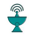 satellite dish telecommunication icon image vector image vector image