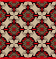 seamless pattern in red brown and beige colors vector image vector image