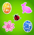 set easter colorful elements vector image