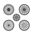 set of five mandalas ethnic decorative mandala vector image vector image