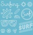 set surfing logos vector image