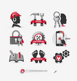 set user interface icons vector image
