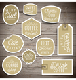 slogans stickers food coffee vector image vector image