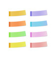 sticky reminder notes realistic colored papers vector image vector image