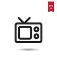 television icon vector image vector image