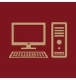 The computer icon PC symbol Flat vector image