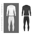 thermal underwear top shirt and pants mockup vector image