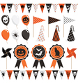 halloween party pack vector image
