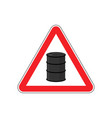 oil attention sign symbol warning of dangerous vector image