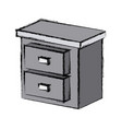 drawer home element vector image