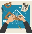 Process of designing the house vector image