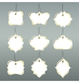 Paper tags collection isolated on grey background vector image