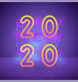2020 new year background in 80s style bright vector image vector image