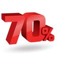 70 percent digits vector image vector image