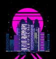 80s retro cyberpunk night city