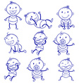 Baby actions vector image
