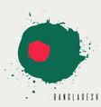 bangladesh watercolor national country flag icon vector image vector image