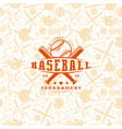 baseball seamless pattern and emblem vector image