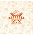 baseball seamless pattern and emblem vector image vector image