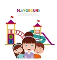 beautiful children playground with kids playing vector image vector image