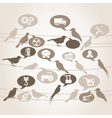 Birds about the industry vector image vector image
