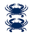 blue crab drawing vector image