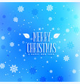 blue snowflakes christmas festival greeting design vector image