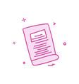 book school icon design vector image vector image