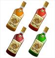 bottles pirate rum vector image vector image