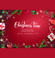 bright red festive frame vector image vector image