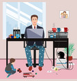 businessman in a suit jacket and pajama bottoms vector image