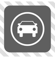 Car Rounded Square Button vector image vector image