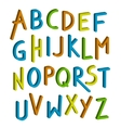 children font Colorful alphabet Letters vector image vector image