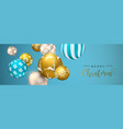 christmas blue bauble ornament web banner vector image vector image