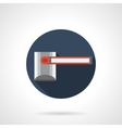 Closed passage round flat icon vector image