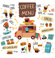 coffee food trucks concept vector image vector image