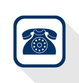 contact flat icon vector image vector image