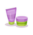 cosmetic bottles body care packaging vector image