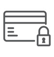 credit card security line icon e commerce vector image vector image