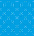 cross arrows pattern seamless blue vector image
