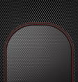 Dark sewing leather on carbon pattern background