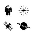 deep space exploration simple related icons vector image vector image