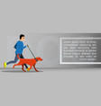 dog outdoor running concept banner cartoon style vector image