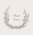 elegant delicate floristic frame wreath vector image