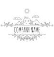 farm house concept logo vector image