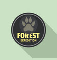 forest expedition logo flat style vector image